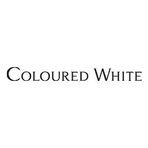 coloured white